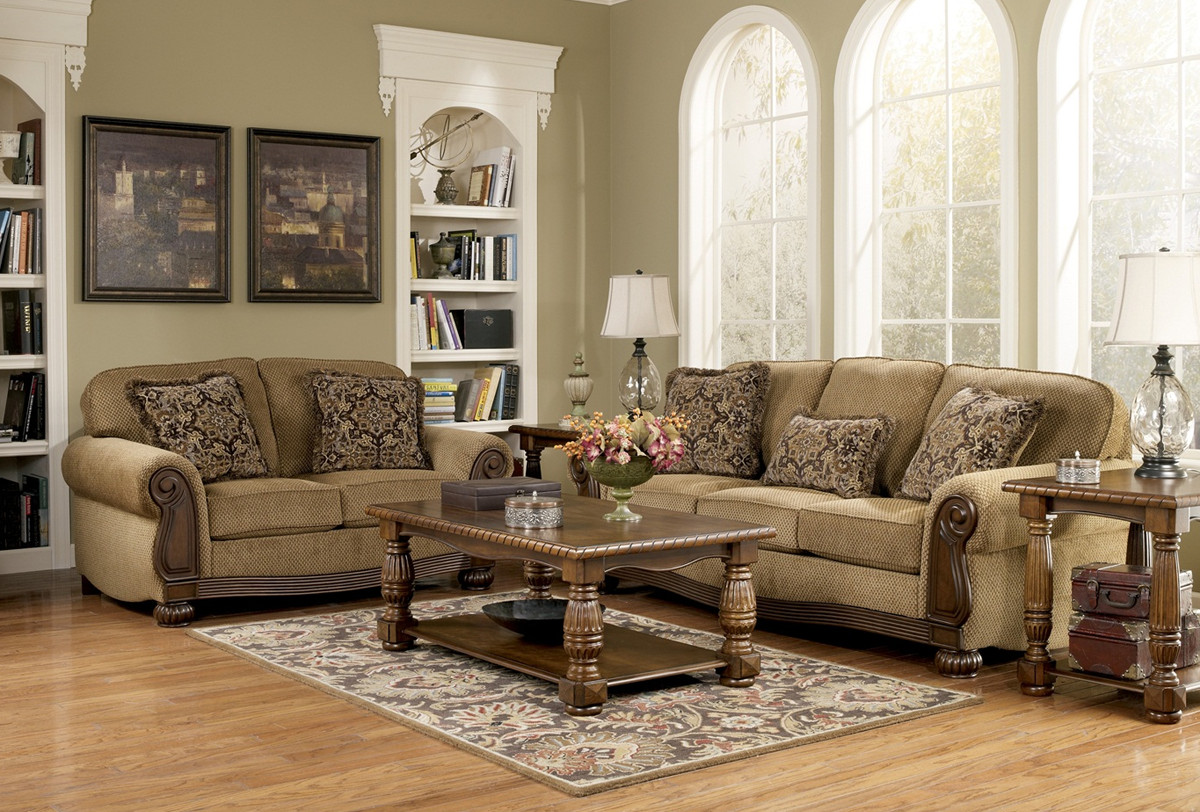 Traditional Living Room Sets Lynnwood Traditional Living Room Furniture Set by ashley