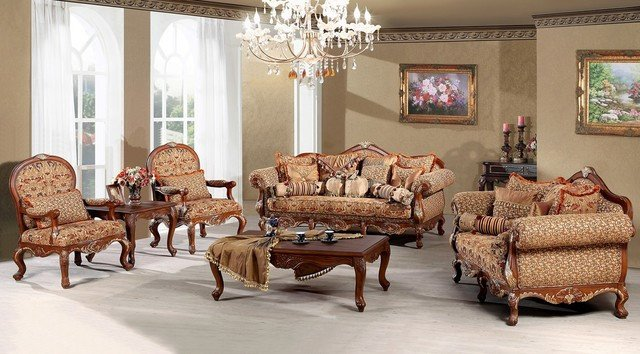 Traditional Living Room Sets Madeleine Luxury Living Room sofa Set