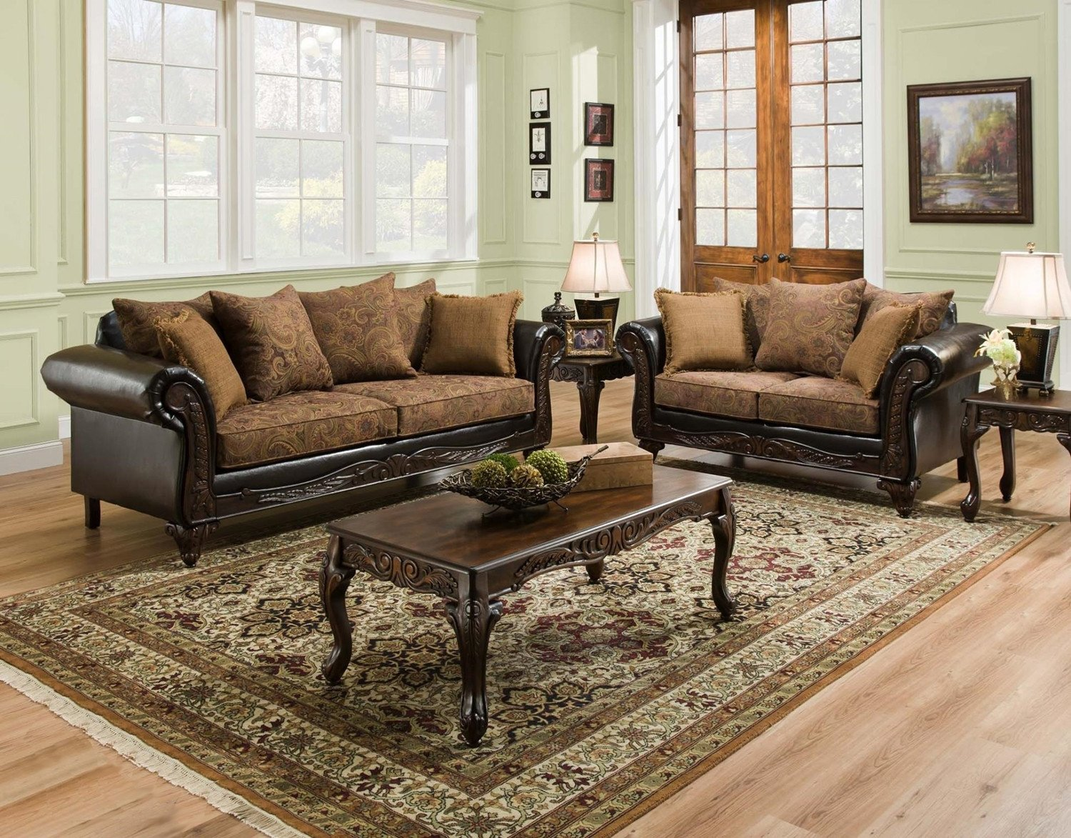 Traditional Living Room Sets San Marino Traditional Living Room Furniture Set W Wood
