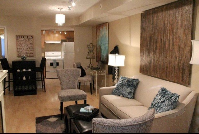 Traditional Living Room toronto Liberty Village 500 Sq Foot Condo Vacant Staging