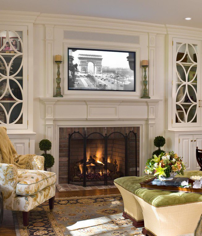 Traditional Living Room Tv Placing A Tv Over Your Fireplace A Do or A Don T