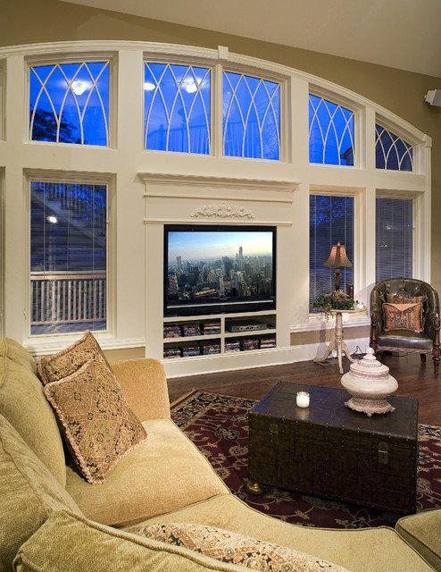 Traditional Living Room Tv Tv Wall Glass Traditional Living Room Other by