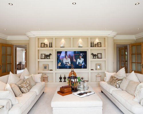 Traditional Living Room Tv Tv Wall Unit Home Design Ideas Remodel and Decor