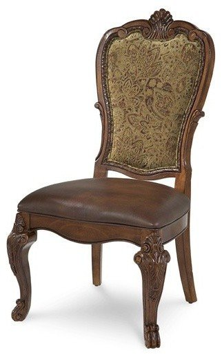 ART Furniture Old World Upholstered Back Side Chair traditional living room chairs