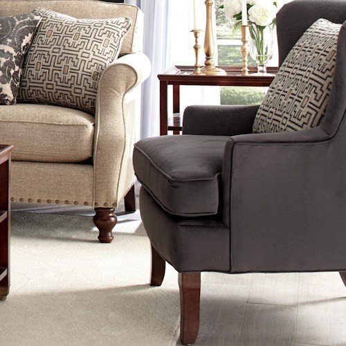 Traditional Living Room Upholstered Chairs Craftmaster Accent Chairs Traditional Upholstered Wing
