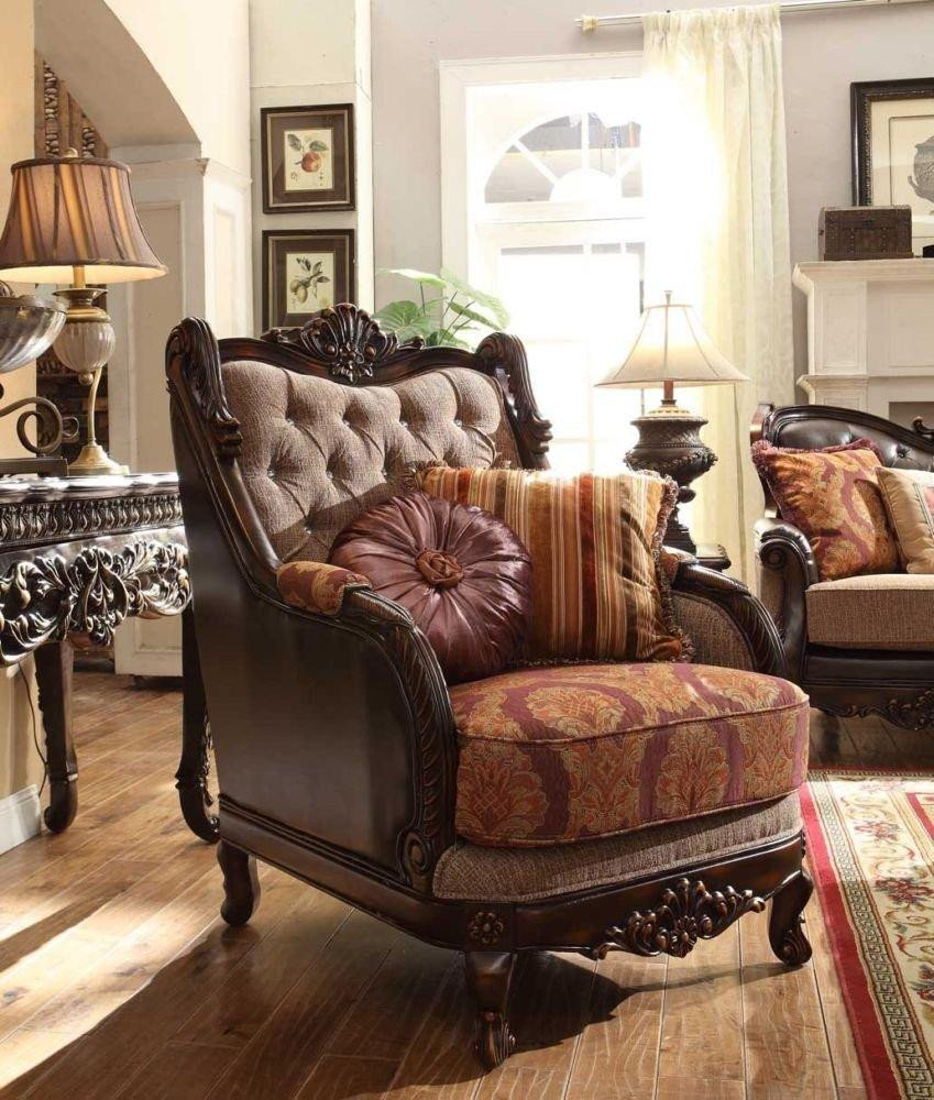 Traditional Living Room Upholstered Chairs Homey Design Hd 3630 Traditional Upholstered Living Room