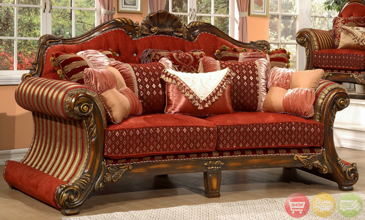 Traditional Living Room Upholstered Chairs Luxury Living Room Set