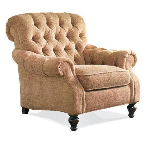 Traditional Living Room Upholstered Chairs Sherrill Traditional Upholstered Lounge Chair with Tufted