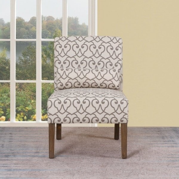 Traditional Living Room Upholstered Chairs Shop Traditional Beige Upholstered Living Room Slipper