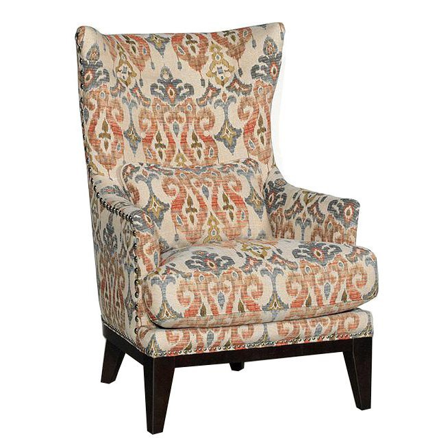 Traditional Living Room Upholstered Chairs Silver Lake Sand Patterned Upholstered Traditional