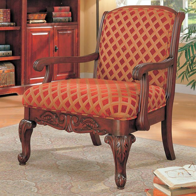 Traditional Living Room Upholstered Chairs Traditional Upholstered Accent Chair Coaster Furniture