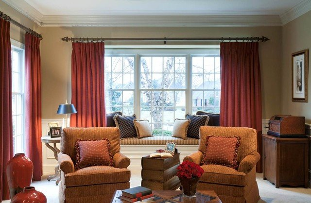 Traditional Living Room Windows Living Room Redesign Bay Window Traditional Living