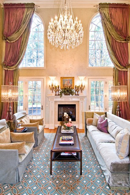 Traditional Living Room Windows Luxury Home Project 1