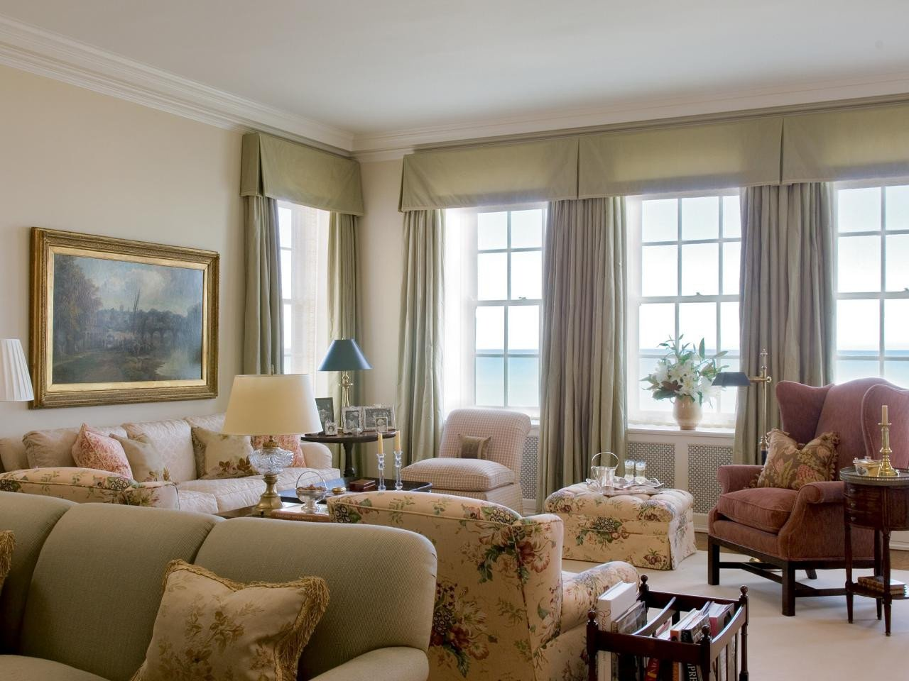 Traditional Living Room Windows S