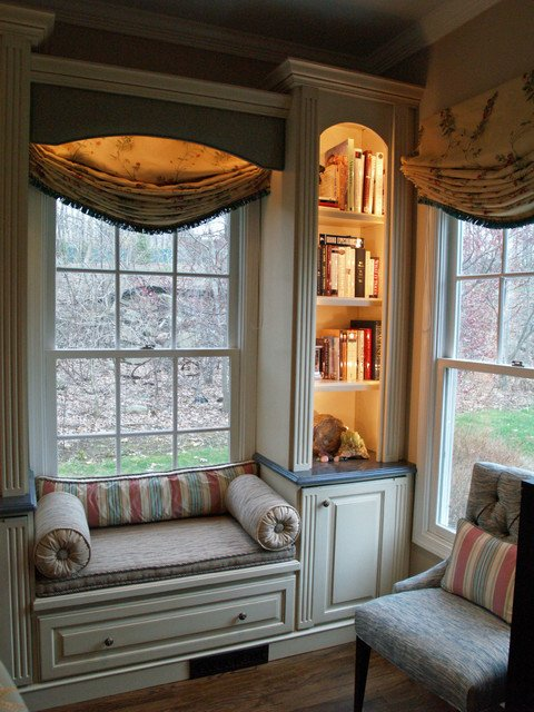 Traditional Living Room Windows Window Seat Traditional Living Room New York by
