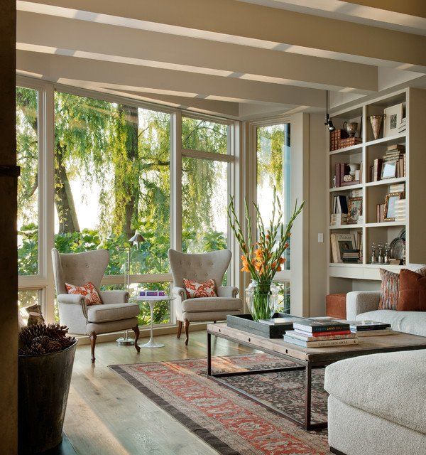 Contemporary Living Room traditional living room seattle
