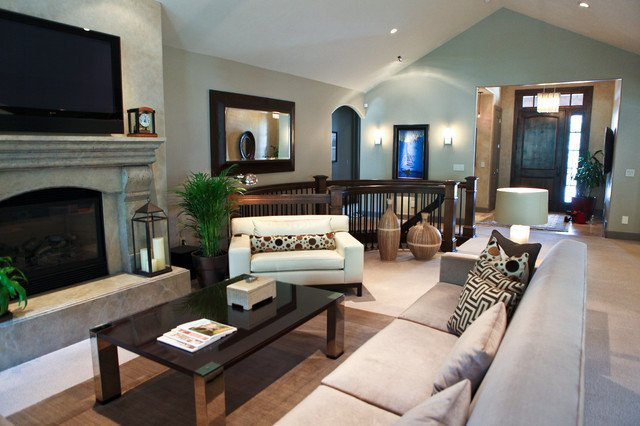 Traditional Modern Living Room Contemporary Mixed with Traditional Living Space