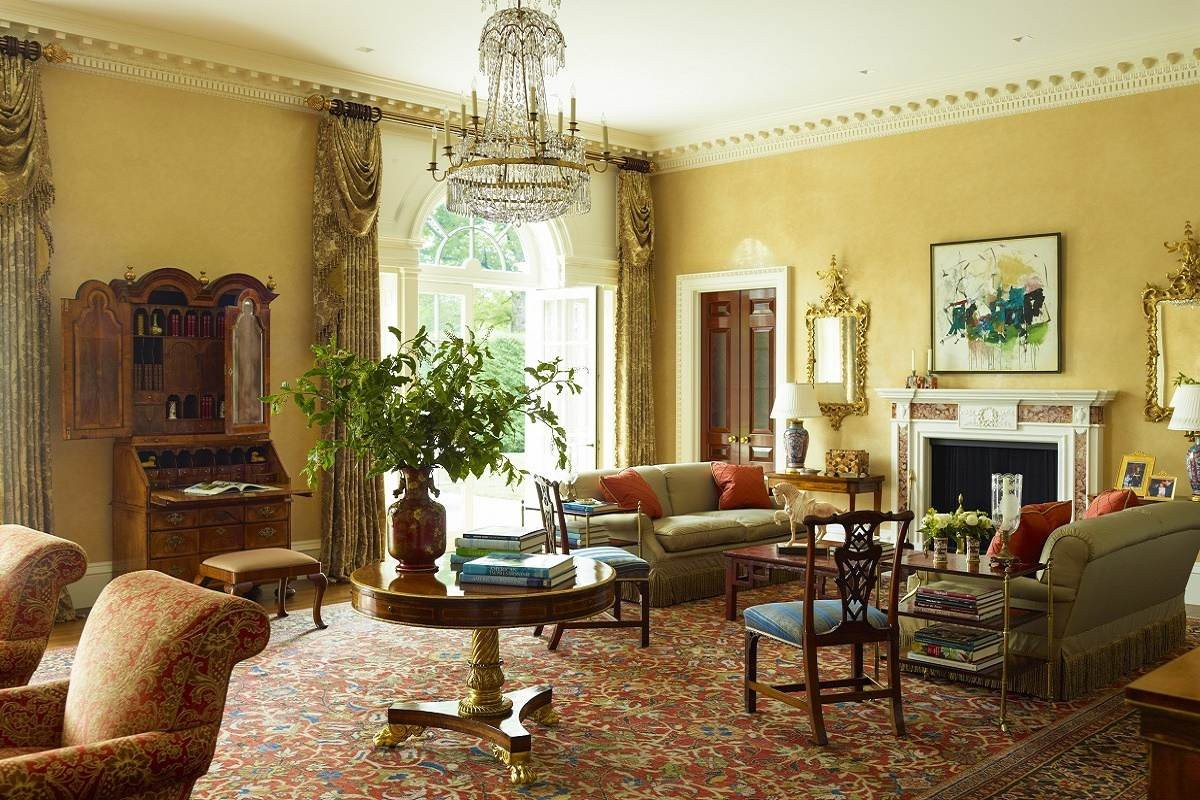 Traditional Modern Living Room Georgian Modern Traditional Elegance