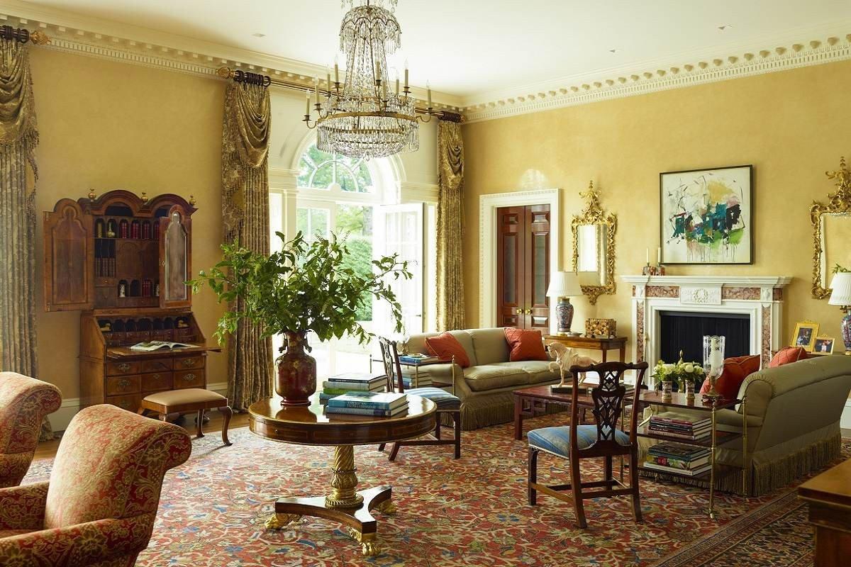 Traditional Modern Living Room Georgian Modern Traditional Elegance