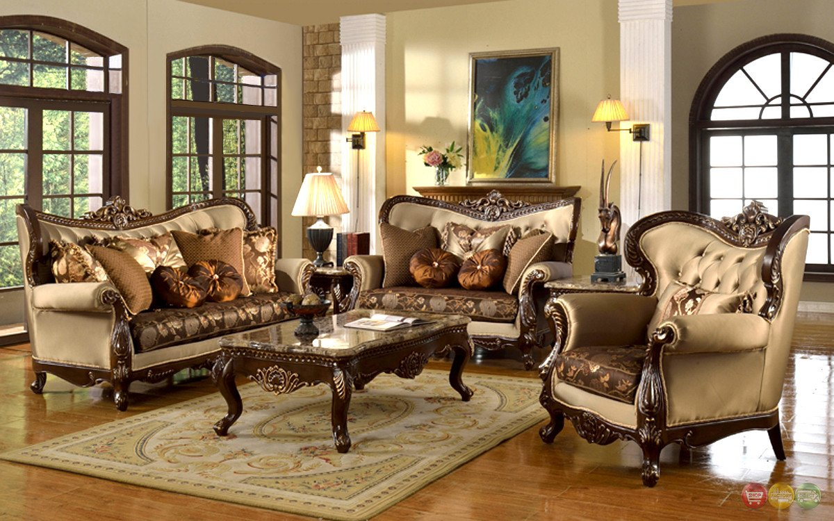 Traditional Style Living Room Antique Style Traditional Wing Back formal Living Room