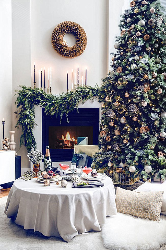 Tree Decor for Living Room 10 Rooms with Festive Christmas Trees