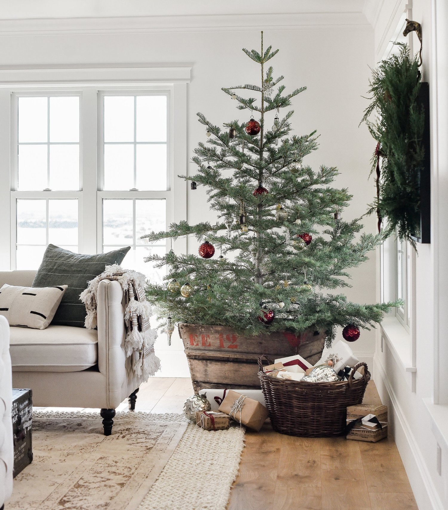 Tree Decor for Living Room Farmhouse Christmas Decor Living Room & Tree Ideas