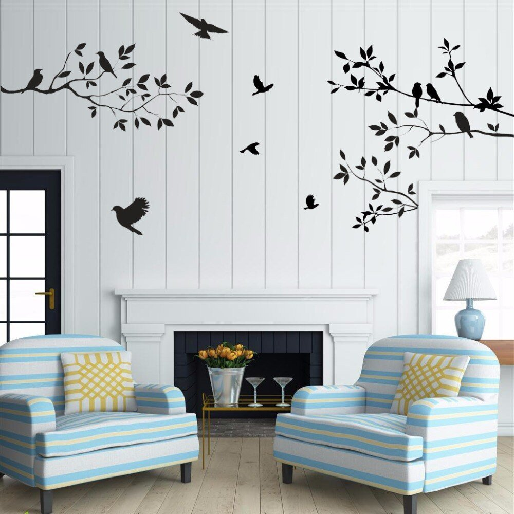 Tree Decor for Living Room Sale Birds Tree Wall Stickers Home Decor Living Room Diy