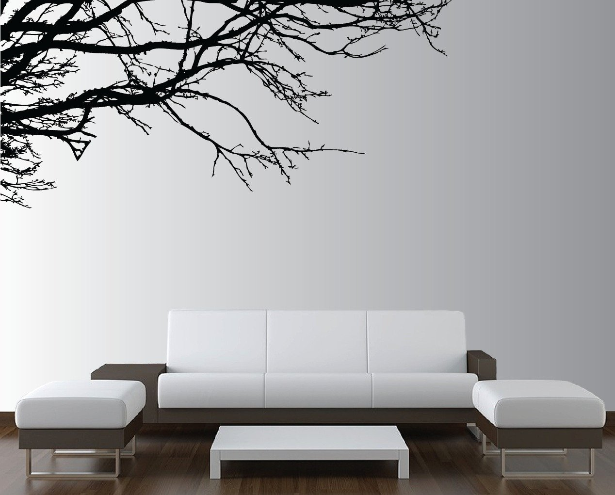 Tree Decor for Living Room Wall Tree Nursery Decal Oak Branches 1130