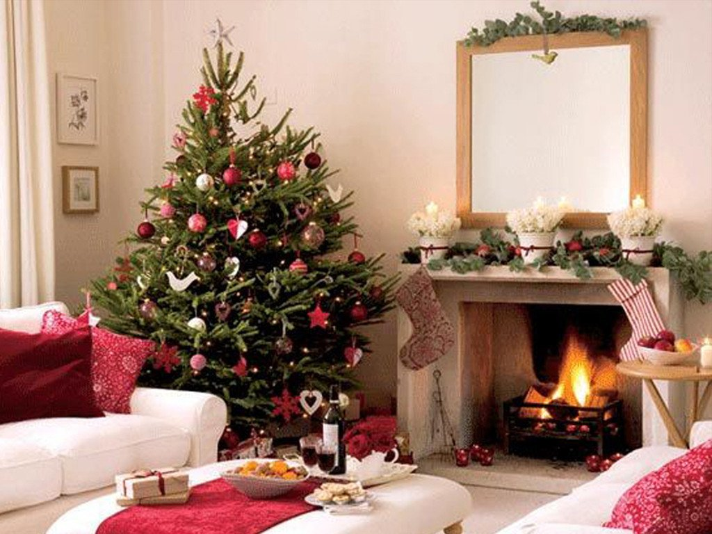 Tree Decor for Living Room White Xmas