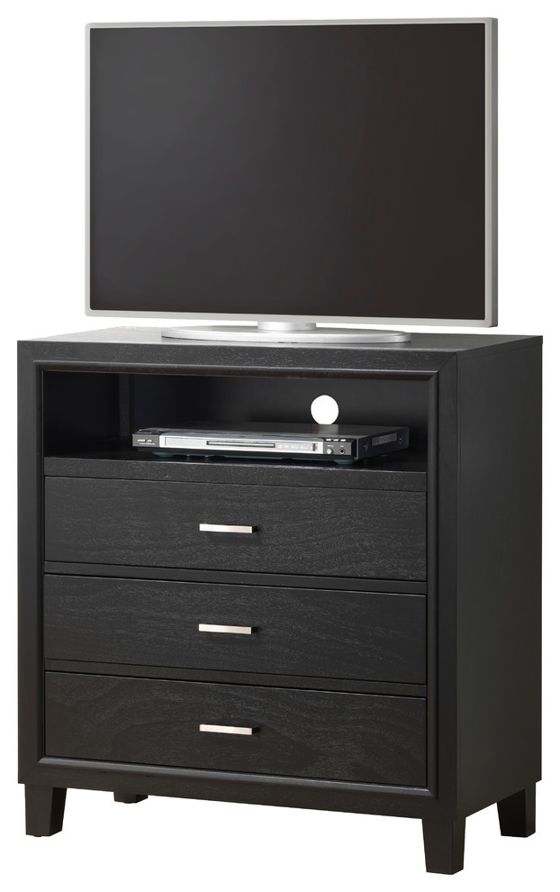Tv Media Chest Bedroom Darden Media Chest Black