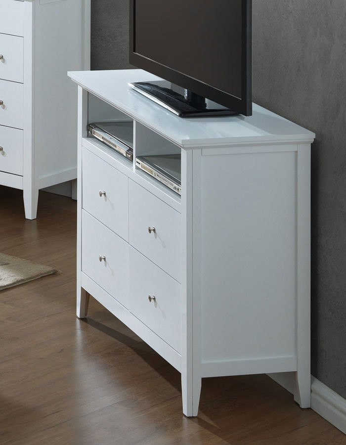 Tv Media Chest Bedroom G5490 Media Chest White