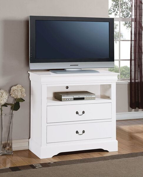 Tv Media Chest Bedroom Louis Philippe White Tv Console Media Chest
