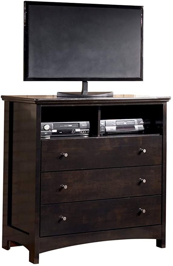 Tv Media Chest Bedroom Signature Design by ashley B208 39 Harmony Collection Media Chest Dark Brown