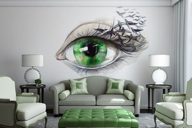 Unique Living Room Decorating Ideas 15 Refreshing Wall Mural Ideas for Your Living Room