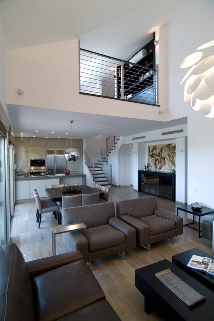 Urban Contemporary Living Room An Urban Penthouse