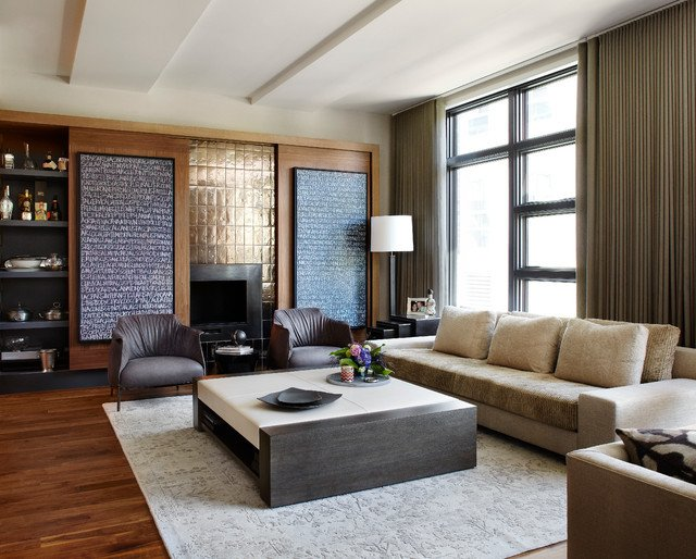 Urban Contemporary Living Room Urban Chic Contemporary Living Room Chicago by