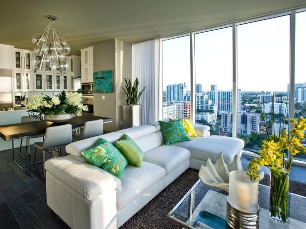 Urban Contemporary Living Room Urban Oasis 2012 Modern Living Room Miami by Cp