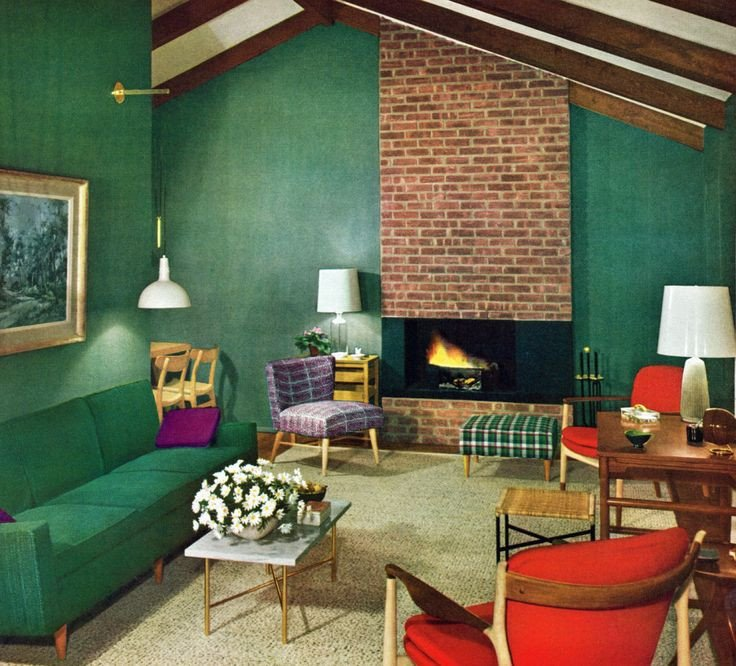 Vintage Contemporary Living Room 36 Best Mid Century Tiki Goth Interior Images On Pinterest