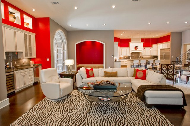 Vintage Contemporary Living Room Modern Retro Interior Contemporary Living Room