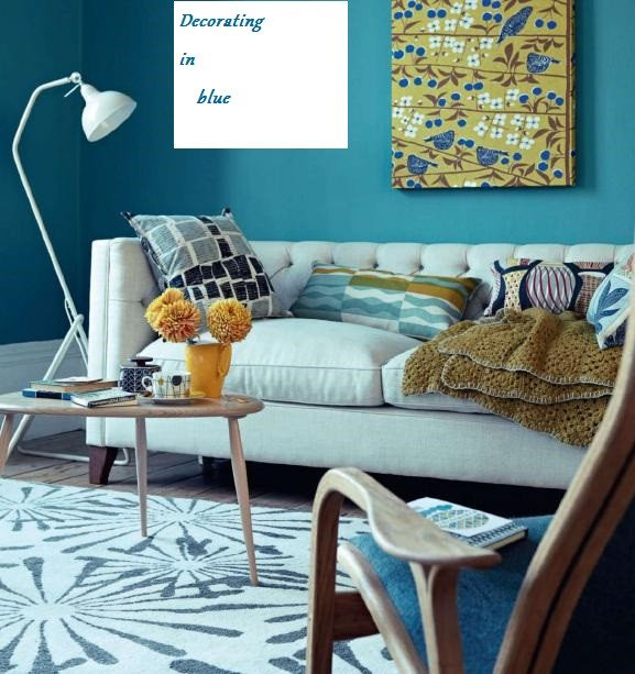 Vintage Living Room Decorating Ideas Living Room Decorating Ideas In Retro Style Blue Home