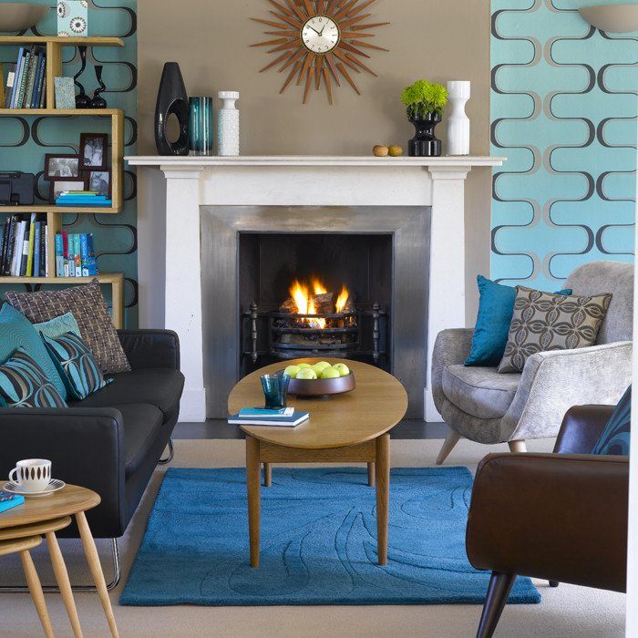 Vintage Modern Living Room Decorating Ideas Retro Living Room Living Room Design
