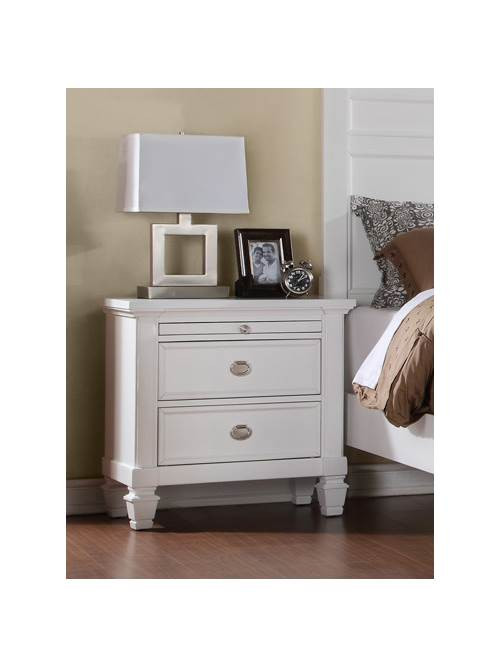 Wal Mart Bedroom Furniture Nightstand with E Pull Out Tray Walmart