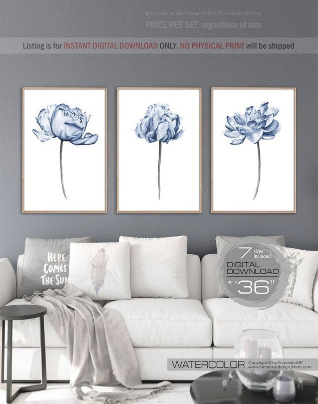 Wall Art Ideas for Bedroom Watercolor Printable Wall Art Prints Wall Art Set 3 Wall