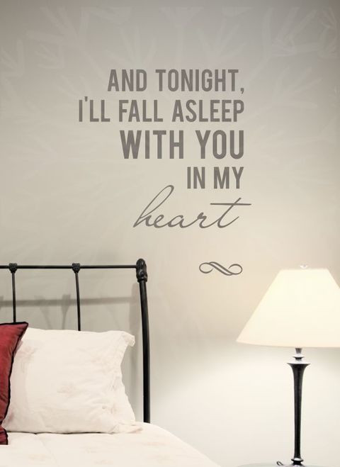 Wall Decals for Bedroom Fall asleep with You In My Heart Vinyl Wall Decal Sticker Love Quotes Bedroom Decor