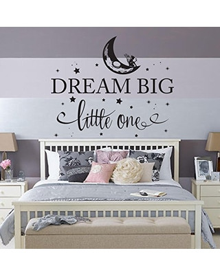 Wall Decals for Bedroom Jobst & Pany Dream Big Little E Fairy Nursery Bedroom Wall Decal Crib Bedding Wall Art World Moon Travel Map Childrens Kids Wall Art Star Decals