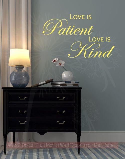 Wall Decals for Bedroom Love is Patient Love is Kind Bedroom Wall Decals Vinyl Lettering Sticker