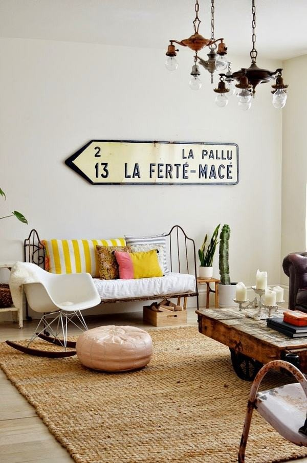 Wall Decor Ideas In Your Living Room Vintage Signs – How to Use them as Decoration In Interior