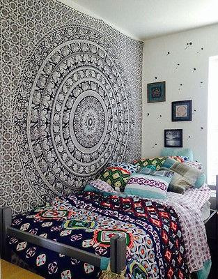 Wall Hangings for Bedroom 150x 200cm Mandala Hippie Tapestry Bedroom Wall Hanging Square Boho Room Decor Tapestry Me Val Tapestry Wall Hangings Me Val Wall Hanging From