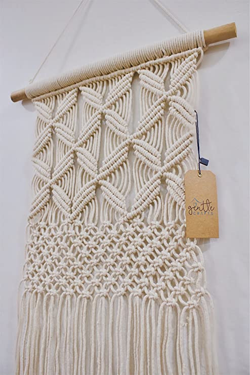 Wall Hangings for Bedroom Gentle Crafts Boho Macrame Hanging Wall Decor Decorative Wall Art Cotton Rope Cord Woven Tapestry Home Decorations for the Living Room Kitchen