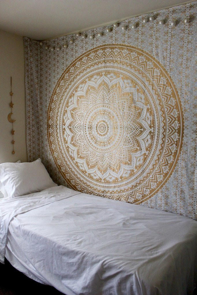 Wall Hangings for Bedroom Magical Night Golden Ombre Tapestry Wall Hanging Cute Tapestries